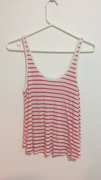 women's white and red stripe tank top null, V9P