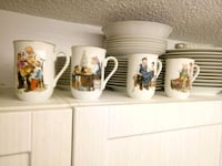 Norman Rockwell tea cups London, N5Z 4X2