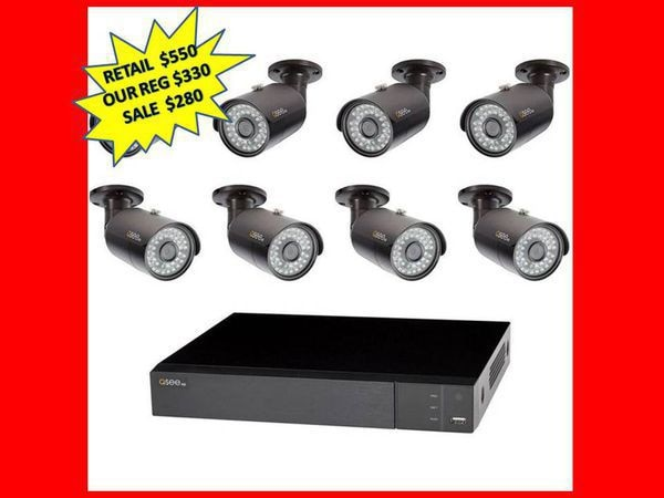 Q-SEE 8-Channel 4MP 2TB DVR Surveillance System with (8) 4MP Bullet Cameras  BRAND NEW