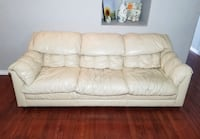 Cameo Furn. Mfg. Light Beige Genuine Leather 3-Seat Couch West Linn, 97068