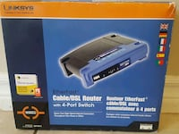 LINKSYS ETHERFAST CABLE/DSL ROUTER WITH 4-PORT  London, N6G