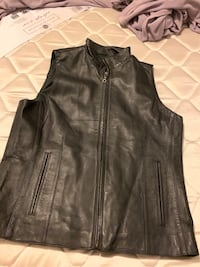 Real leather vest