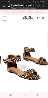 Leopard sandals Wilmington, 19804