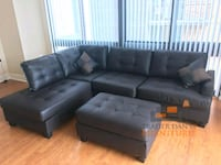 Brand New Espresso Faux Leather Sectional Sofa  Silver Spring, 20902