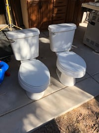 One elongated bowl toilet