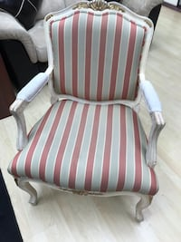 white and brown stripe fabric sofa chair Langley, V1M 2E5