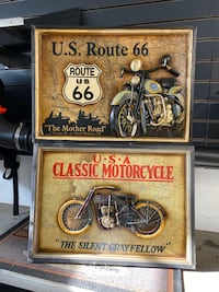 Motorcycle Wall Plaques - Harley / Indian Saint James