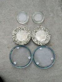 four round silver-colored pendants Campbell, 95008