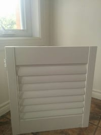 Set of 4 indoor solid wood white shutters  Kitchener, N2N 1E2