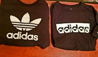 two black and white Adidas pullover hoodies Forest, 24551