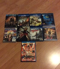 3D bluray movie 3D&2D film samlet 500kr, stk 80kr