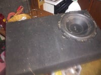 black subwoofer speaker with enclosure Channelview, 77530
