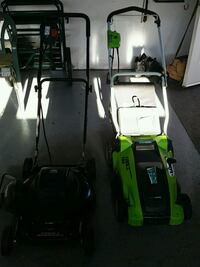 green and black push mower Fort McMurray, T9K 0E1