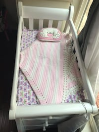 white and pink floral bed mattress 2390 mi