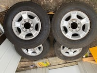 Rims and tires off of 2016 ford f250