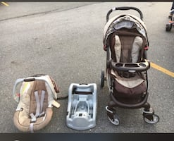 Graco car seat with stroller