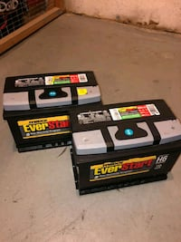 Truck batteries (×2) never used and fits Silverado 2500 diesel 2015