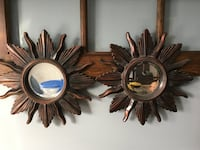 Wooden sun framed mirrors North Olmsted, 44070
