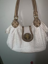 white and brown leather shoulder bag Edmonton, T5W 4R1