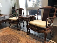 Antique Chinese chairs and side table  Vaughan, L4J 0K1