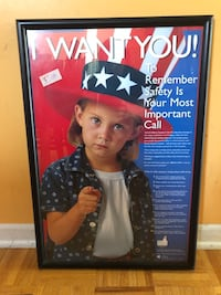 """I Want You "" Poster - safety 17x25 in Bolingbrook, 60490"