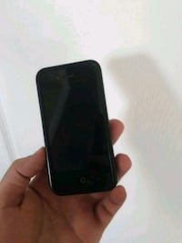 black iPhone 4 with case