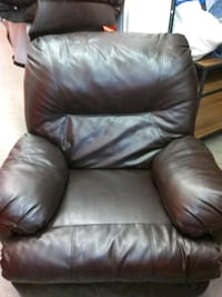 black leather recliner sofa chair 248 mi