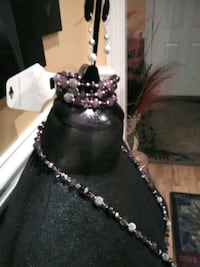 black and purple beaded necklace Brooklet, 30415