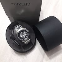 New With Tags - Citizen Quartz 40mm Men's Chronograph Casual Watch Silver and Black Edmonton, T6R 1Z6