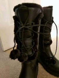 Black leather boots size 7 Silver Spring, 20910