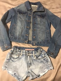Jacket with short pants .in jean