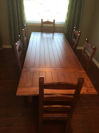8 piece set. Solid Wood Table, 6 Chairs and Buffet.  St Albert, T8N 6Z5