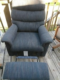 Small blue lazyboy recliner