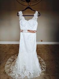 Wedding dress bridal gown size 8 new with matching veil Jacksonville, 32246