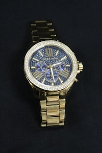 Michael Kors Wren Blue Dial Gold-tone Chrono watch Columbus