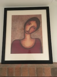 black wooden framed painting of woman Toronto, M9B