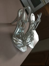 pair of silver strappy sandals Surrey, V3R 6G7