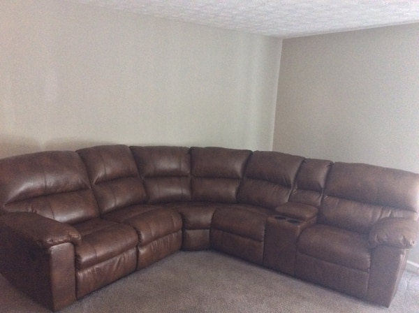 Used Brown leather-like 2-seat recliner sofa for sale in Morrow - letgo