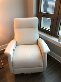 white leather padded sofa chair Arlington, 22202