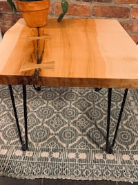 Live edge maple end table