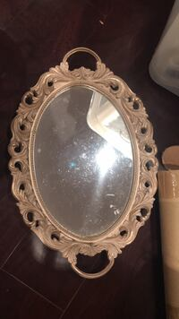 oval white wooden frame mirror Vancouver, V5W 3P7