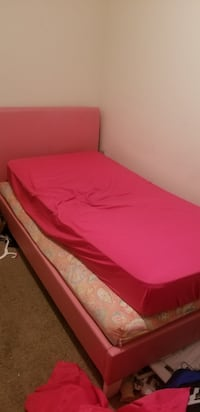 Pink pleather twin bed Rock Hill
