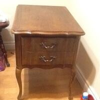 brown wooden 2-drawer nightstand Vancouver, V5P
