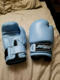 pair of blue boxing gloves 3153 km