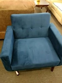 blue suede tufted sofa chair Houston, 77092
