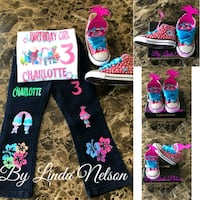 Trolls poppy birthday outfit and custom Converse Oakland Park, 33309
