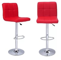 2 Red Swivel Bar Stools Oshawa, L1J 6A8
