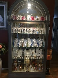 Silver glass display cabinet Addison