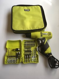 Ryobi corded drill with 30 pcs bits and attachments  Edmonton, T5B 3R6
