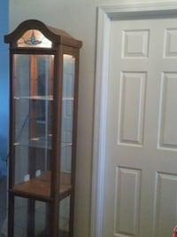 5 shelves Curio with accent lighting
